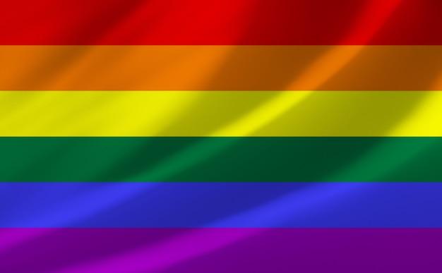Флаг гордости лгбт развевается на ветру