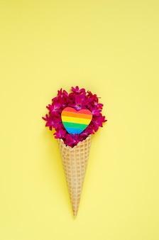 Lgbt pride month 정통 배너 디자인
