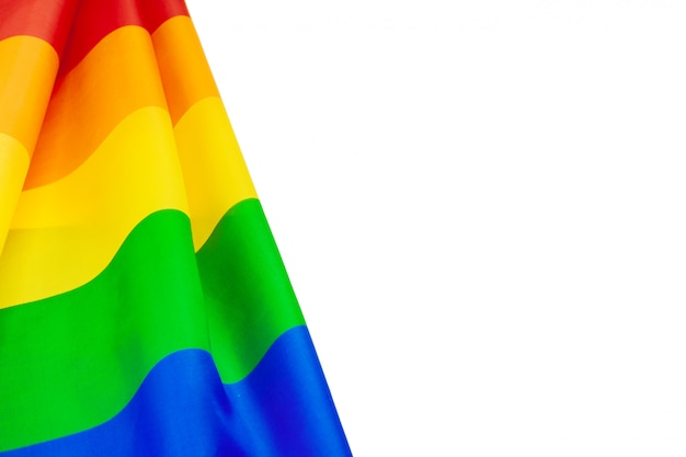 Lgbt pride rainbow flag background