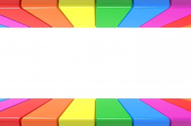 Lgbt rainbow colorful plate pattern in up and down on gray wall background