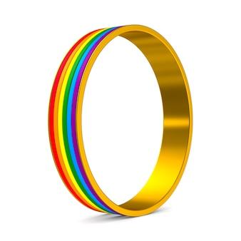 Lgbt ring on white