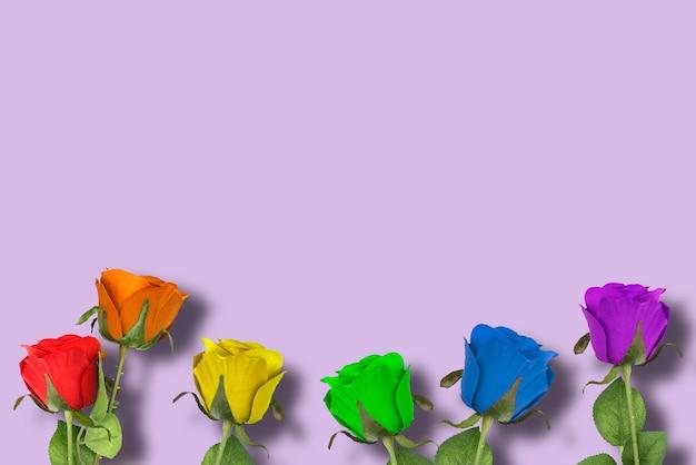 Лгбт розы на фиолетовом фоне