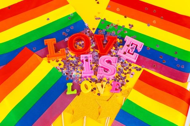 Lgbt , text love, lgbt flag