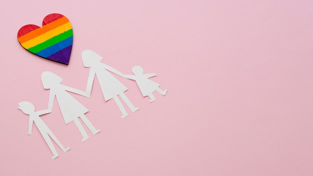 コピースペースを持つlgbt家族概念の構成
