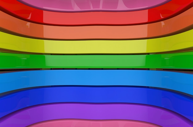 Lgbtq rainbow color curve panels wall background