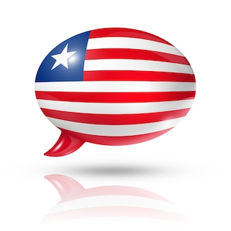 Liberian flag speech bubble