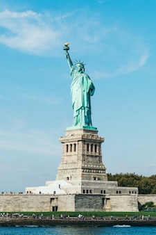 Liberty statue in new york city (usa)
