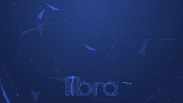 Libra coins concept motion background