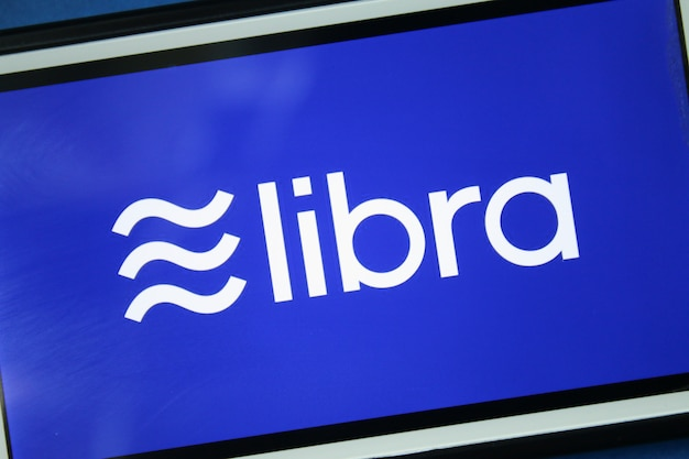 Libra facebook cryptocurrency on screen
