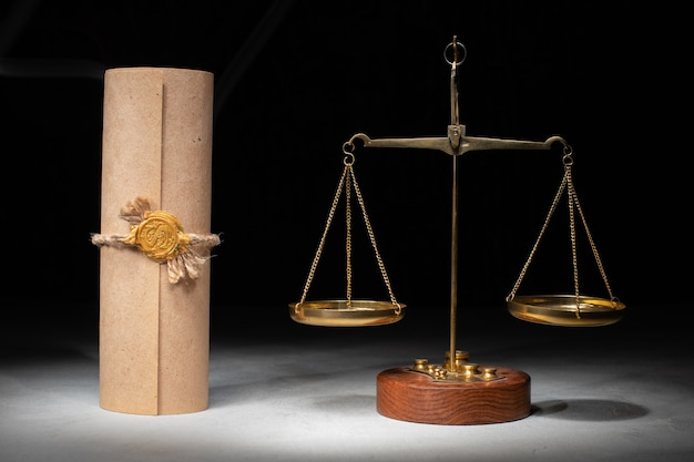 Libra and stamp on testament and last wills