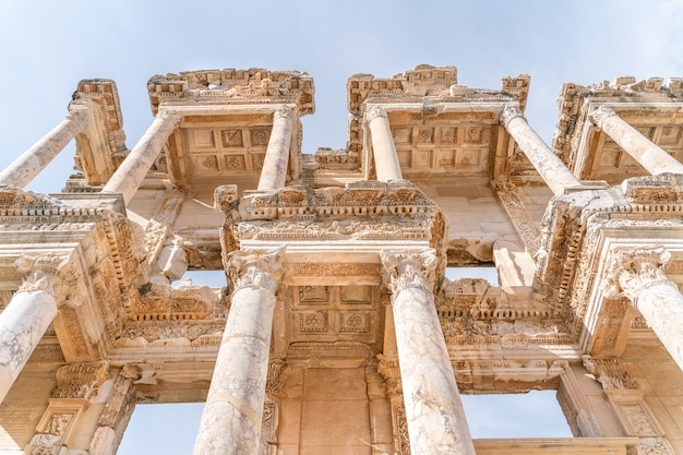 Library of celsus in the ancient city of ephesus turkey ephesus is a unesco world heritage site
