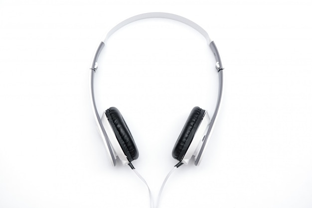 Lie white headphones