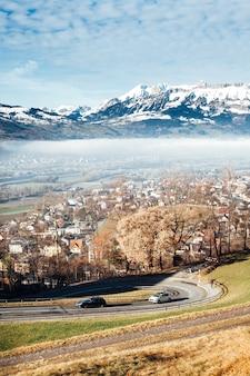 Лихтенштейнские горы пейзаж