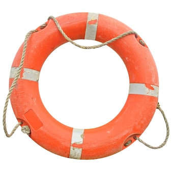 孤立した救命浮き輪