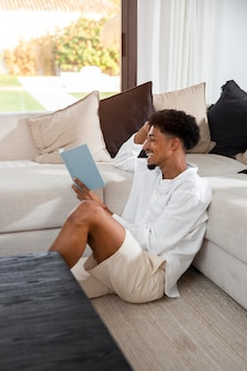 Life at home with young adult reading