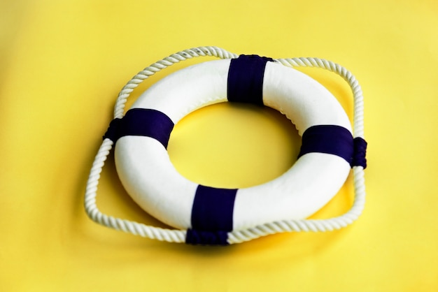 Lifebuoy belt rescue survival concept