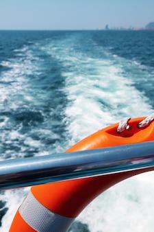 Lifebuoy on passenger ship