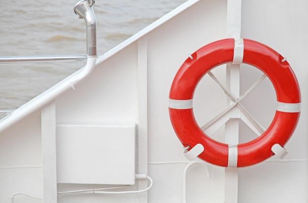 Lifebuoy on white background