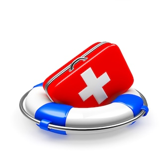 Lifebuoy with first aid kit