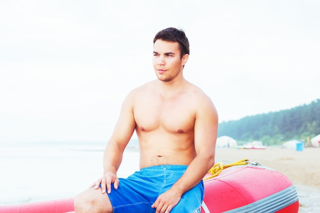 Bagnino in spiaggia