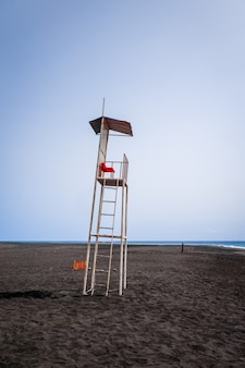 Lifeguard chair on a beach in cape verde