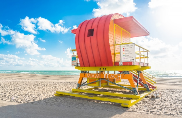Lifeguard station in miami beach