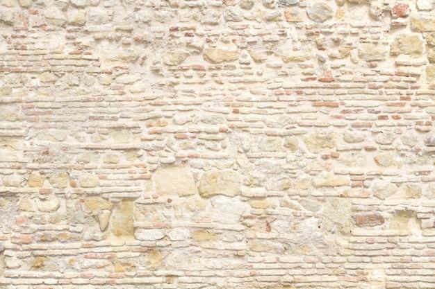 Light beige stone wall