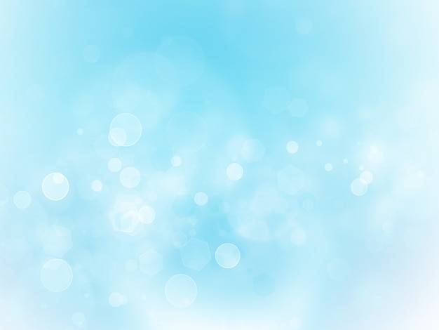 Light blue background with blur effect