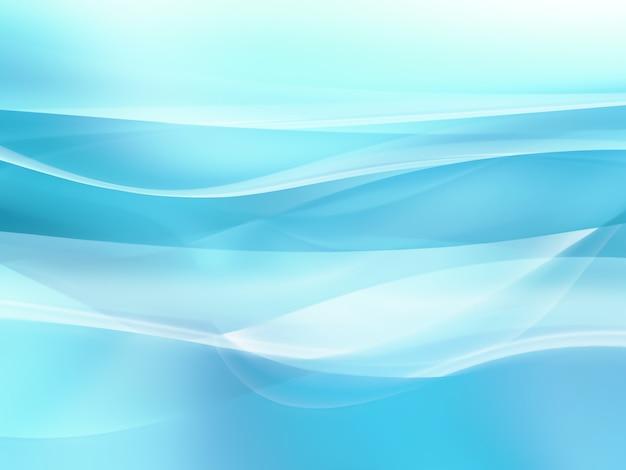 滑らかな白い線と水色の背景