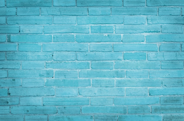 水色のレンガの壁のテクスチャの背景