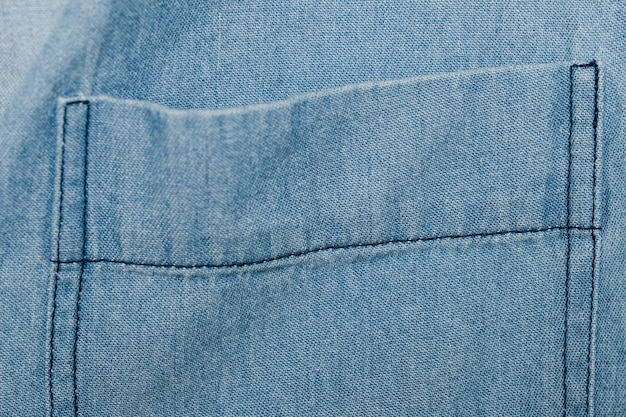 Light blue denim pocket