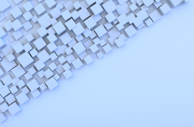 Light blue geometric cube shapes background