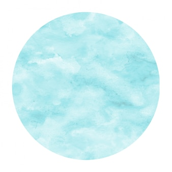 Light blue hand drawn watercolor circular frame