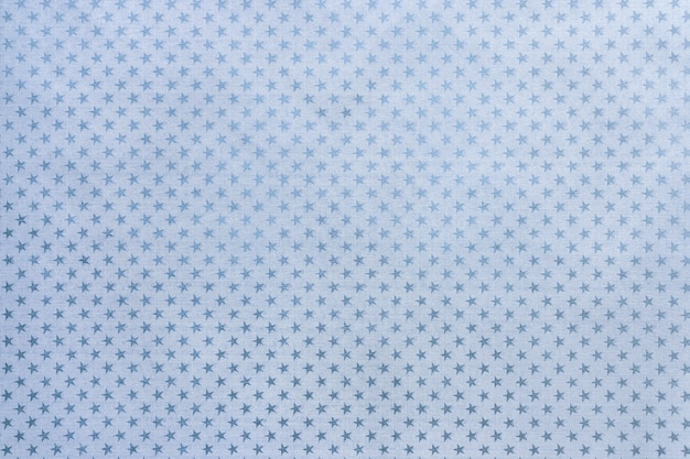 Light blue metal foil paper with a stars pattern