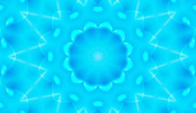 하이테크 디지털 데이터 연결 시스템과 컴퓨터 전자 설계가 있는 밝은 파란색 기술 배경. 테크노 만화경.
