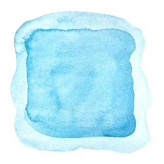 Light blue watercolor frame isolated on the white backgdound