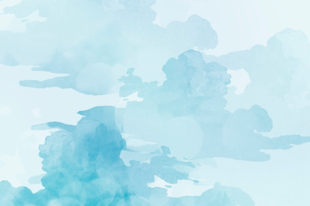 Light blue watercolor textured background