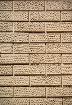 배경 또는 질감에 대 한 밝은 갈색 벽돌 벽
