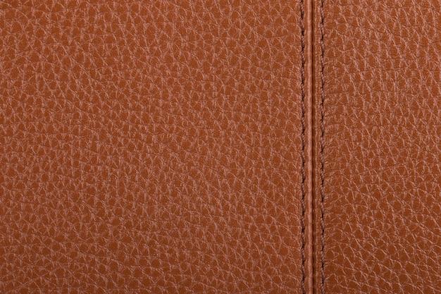 薄茶色の天然皮革テクスチャ背景