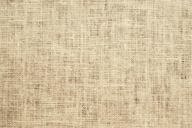 薄茶織りのキャンバス生地のテクスチャ