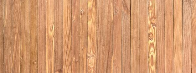 明るい茶色の木製の背景。木の質感、パノラマビュー。