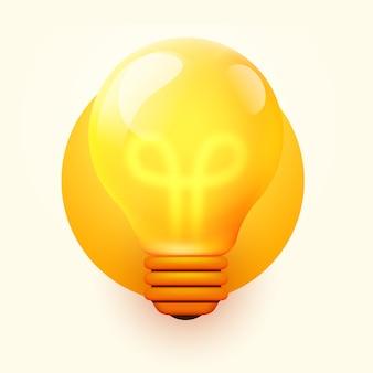 전구, 창의적인 아이디어 및 혁신. 영감 개념.