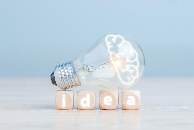 전구, 창의적인 새로운 아이디어, 밝은 아이디어, 솔루션 개념.