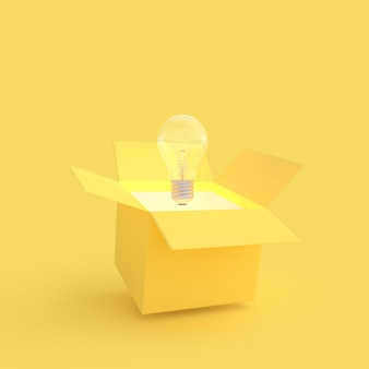 The light bulb drifted out of the gift box yellow color.