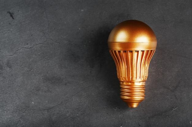 黒い石に金の電球