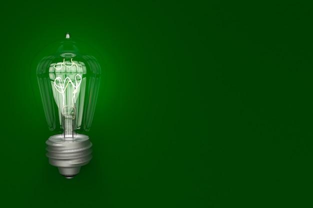 スペース、電気のコンセプトで背景に輝く電球