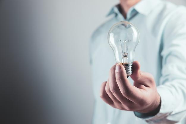 Light bulb in hand new idea