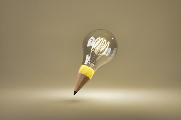 Лампочка с подсветкой кончиком карандаша