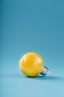 The light bulb is like a lemon