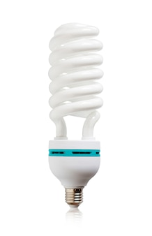 Light bulb isolated on white background.